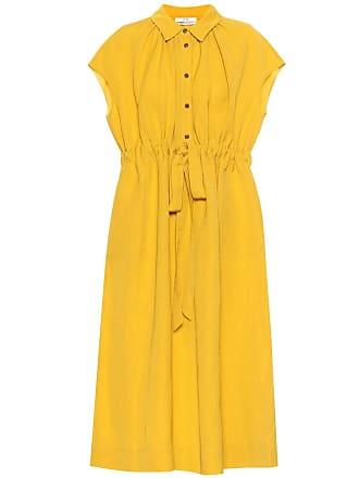 Co Drawstring-waist linen-blend dress