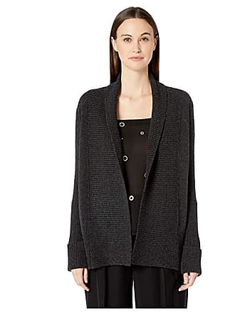 c4e9ba5ac00ae Vince Wide Collar Cardigan (Heather Carbon) Womens Sweater