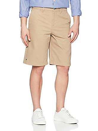 Lacoste Mens Regular Fit Chino Bermuda Shorts, FH7421, Kraft Beige, 40