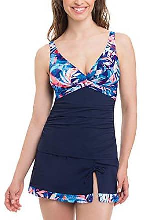 ff5091ed53d78f Gottex Womens Twist Front V-Neck Cup Sized Tankini Top Swimsuit, Tahiti  Multi,