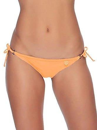 Body Glove Womens Smoothies Brasilia Tie Side Cheeky Bikini Bottom Swimsuit, Mango, Medium