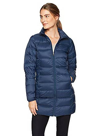 Amazon Essentials Womens Lightweight Water-Resistant Packable Down Coat, Navy, Small