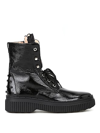3d2ef82e26893d Tod s Embroidered tongue patent ankle boots