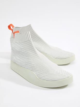 on sale c1e8e ddc0b adidas Originals Adilette Primeknit Sock Summer Trainers In White CM8226