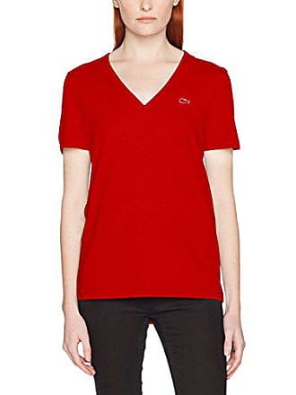 5ebd62773f8 Lacoste TF8908 T-Shirt Rouge (Toreador) 36 (Taille Fabricant  36)