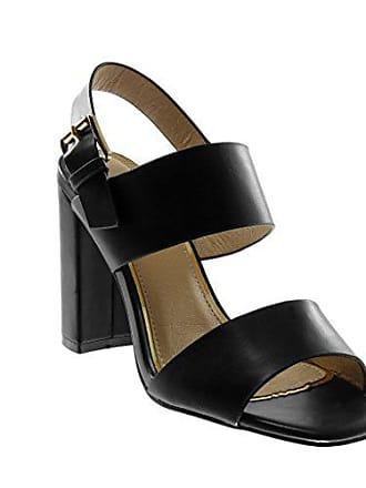 180bc5b07d6175 Angkorly Damen Schuhe Sandalen Pumpe - knöchelriemen - String Tanga -  Schleife - golden Blockabsatz high