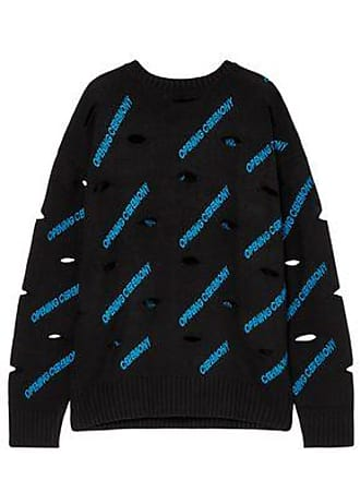 Opening Ceremony Opening Ceremony Woman Cutout Embroidered Stretch-knit Sweater Black Size XS