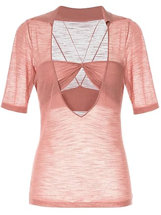 Jacquemus cut-out detail blouse - Pink