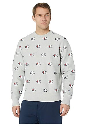 d2c065e7 Champion LIFE Reverse Weave(r) Crew - All Over Print (Scribble Logo Oxford