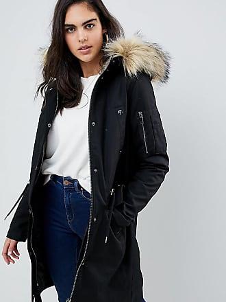 006aa55460fa Asos Tall ASOS DESIGN Tall parka with detachable faux fur liner - Black