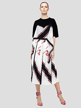 Msgm anchor print pleated skirt