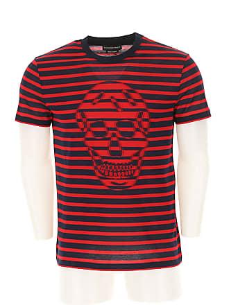 9916f3304c4f Alexander McQueen T-shirt Homme Pas cher en Soldes, Rouge, Coton, 2017