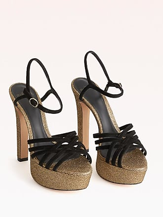 Alexandre Birman Berthe Platform Sandal - 35.5 Oro Gold Metallic Fabric
