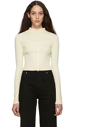 9f0eb2297b86 ECKHAUS LATTA SSENSE Exclusive Off-White and Pink Ombre Edge Lapped Long  Sleeve Turtleneck