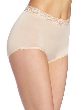 Wacoal Underwear Bodysuede Lace Waist Brief, Natural Nude, Size 7