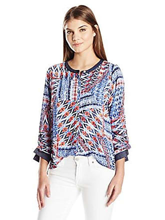 33a4d2755686a Alfred Dunner Womens Plus Size Printed Patchwork Tunic