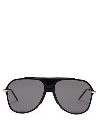eb29346f8d8 Lunettes Dior Aviator Acetate Sunglasses - Mens - Black