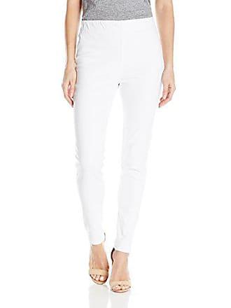 Joan Vass Womens Slim Ankle Demim Stretch Jean, White, M
