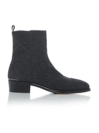 Alexander McQueen Glittered Leather Chelsea Boots