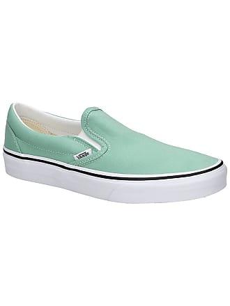 2a86de973bb Vans Classic Slip-Ons neptune green / true white
