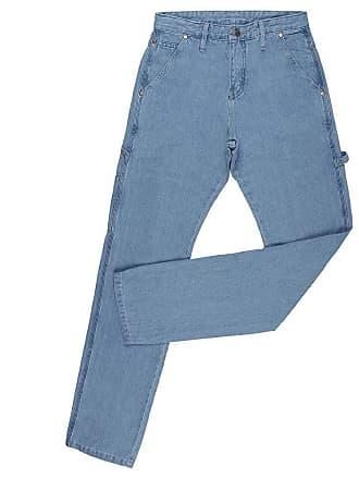 Wrangler Calça Jeans Carpinteira Masculina Delavê Cowboy Cut Original Wrangler 23991