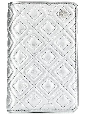 Tory Burch quilted-effect Fleming wallet - Silver