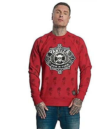aa94bb19350fa5 Yakuza Original Herren Sick N Fuck Pullover Sweater, S, Ribbon Red