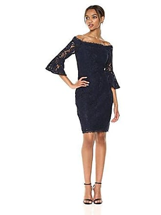 6a2dfab83fcb2 Adrianna Papell Womens Lace Off The Shoulder Bell Sleeve Sheath Dress