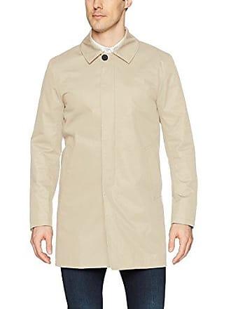 J.Lindeberg Mens Water Repellent Twill Coat, Oxford tan, X-Large