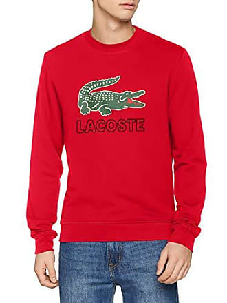 1bd6bc914a47 Lacoste SH6382 Sweat-Shirt, Rouge (Clusi Chiné 9qa), X-Large