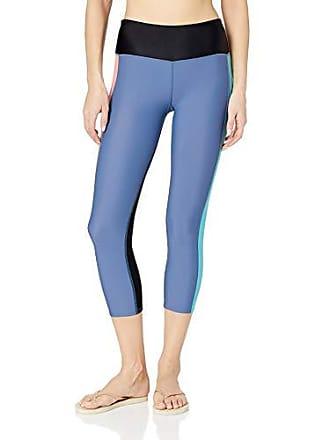 Body Glove Womens Velocity Hybrid Surf Capri Swimsuit with UPF 50+, Stripe it up Storm, Large