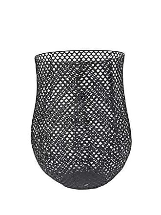 Sagebrook Home 11693 Metal Barrel Basket Metal, 14 x 14 x 17.25 Inches