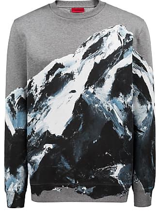 HUGO BOSS Hugo Boss Oversized-fit sweatshirt in cotton seasonal mountain graphic XS Patterned