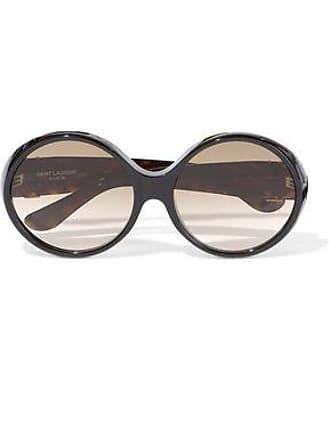 2bf4e30b546 Saint Laurent Saint Laurent Woman Round-frame Tortoiseshell Acetate  Sunglasses Brown Size
