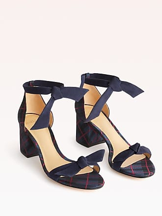 Alexandre Birman Clarita Block 60 Sandal - 35.5 Nightshade Plaid Plaid Fabric & Suede
