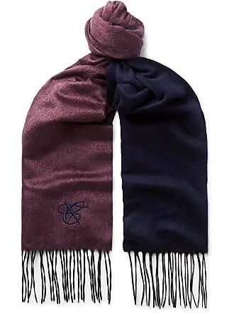 Canali Silk And Cashmere-blend Scarf - Burgundy