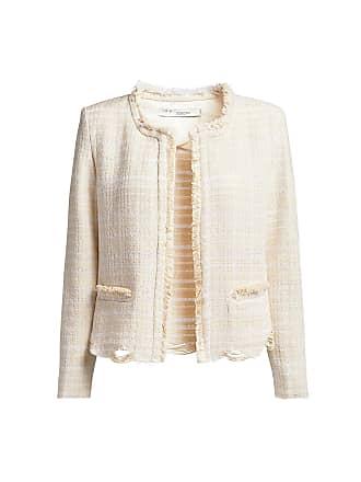Iro Wondrous Tweed Frayed Jacket White