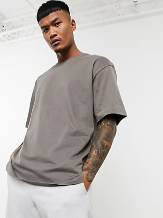Bershka Join Life - Oversize-T-Shirt in Taupe-Beige
