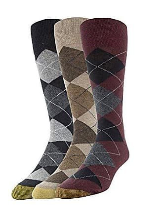 ae8944cd1847 Gold Toe Mens Carlyle Argyle Crew Socks, 3 Pairs, oxblood/taupe/black