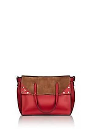 49a8ba844bef Fendi Womens Flip Small Leather   Suede Tote Bag - Red