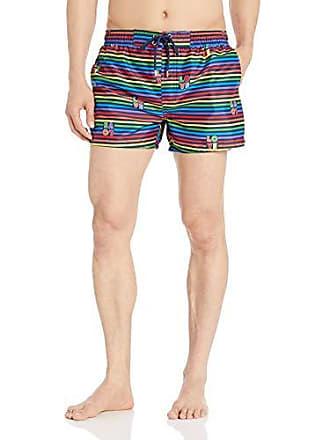 8f926f3ea605d 2(x)ist Mens Pride Ibiza Swim Trunk Swimwear, Love Stripe/Rainbow