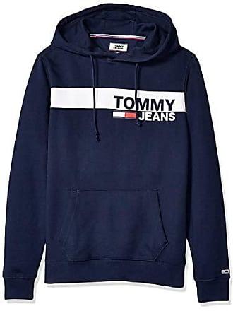 c89400709154f5 Tommy Hilfiger Tommy Jeans Mens Essential Graphic Hoodie Sweatshirt, Black  Iris, XXL