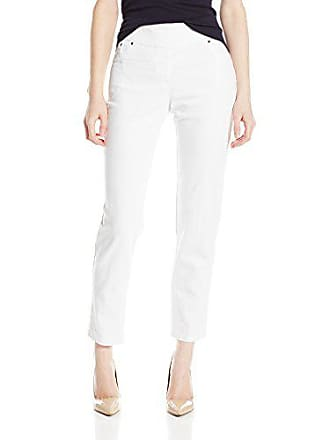 Ruby Rd. Womens Petite Pull-on Extra Stretch Denim Jean, White, 16