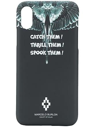 Marcelo Burlon Capa para iPhone X Wings - Preto