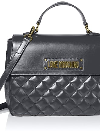 Love Moschino Borsa Quilted Nappa Pu, Womens Top-Handle Bag, Grey (Grigio), 21x30x11 cm (W x H L)