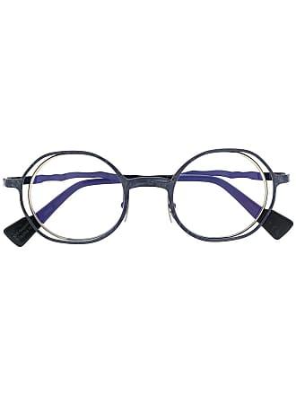 Kuboraum round frame glasses - Azul