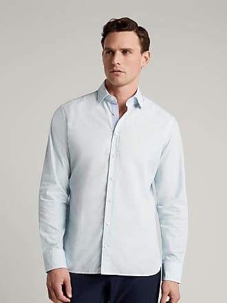Hackett Mens Micro Logo Print Cotton Shirt   Medium   White/Blue