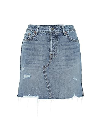 GRLFRND The Blaire high-rise denim miniskirt