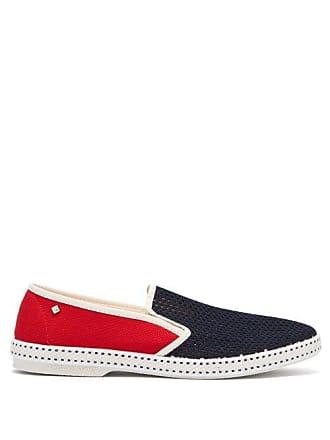 20c17513844 Rivieras Shoes Tour Du Monde Canvas Loafers - Mens - Blue Multi