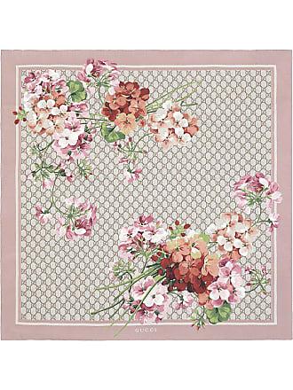 Gucci Echarpe GG Blooms - Rosa